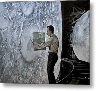 The Moon Builders - Lunar Orbit And Let-down Approach Simulator.  Metal Print by Simon Kregar