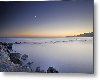 the Moon over the sea Metal Print by Guido Montanes Castillo
