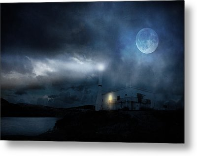 The Moon Touches Your Shoulder Metal Print by Taylan Apukovska