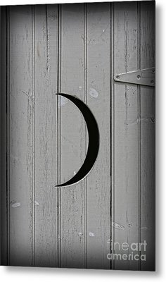 The Moonlight Outhouse Metal Print by Lee Dos Santos