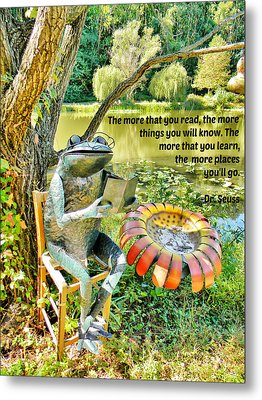 The More That You Read... Metal Print by Jean Goodwin Brooks