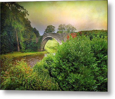 Metal Print featuring the photograph The Morning Bridge by Roy  McPeak