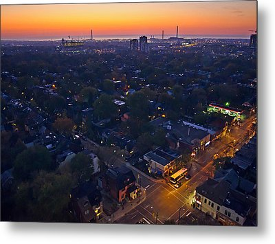 Metal Print featuring the photograph The Morning Bus by Keith Armstrong