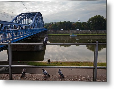The Most Pilsudskiego Bridge Metal Print by Panoramic Images