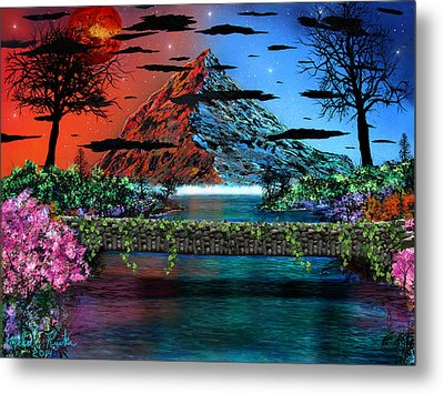 The Mountain Canal Metal Print by Michael Rucker