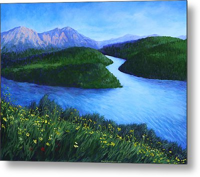 The Mountains Beyond Metal Print by Penny Birch-Williams