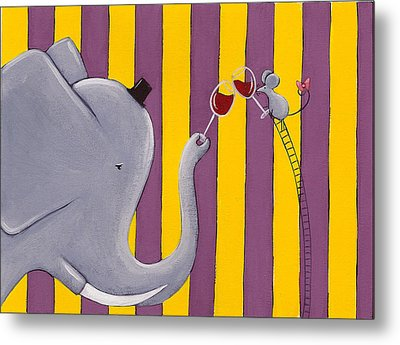 The Mouse And The Elephant Metal Print by Christy Beckwith