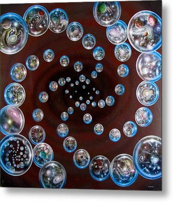 The Multiverse In God's Eye Metal Print by Sam Del Russi