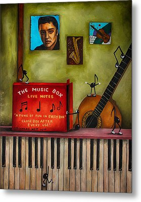 The Music Box Edit 3 Metal Print by Leah Saulnier The Painting Maniac