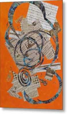 The Music Goes Round And Round Metal Print by David Raderstorf