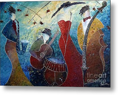 The Music Never Stopped 2 Metal Print