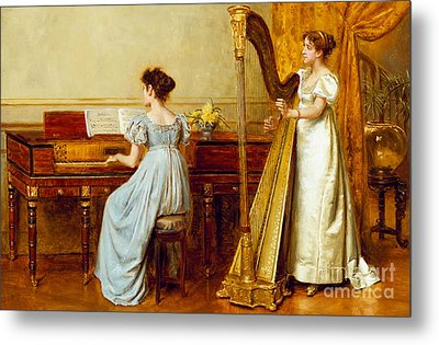 The Music Room Metal Print by George Goodwin Kilburne