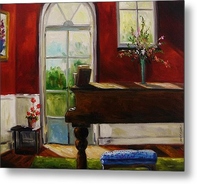 The Music Room Metal Print by John Williams