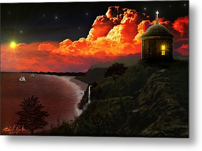The Mussenden Temple - Ireland Metal Print by Michael Rucker