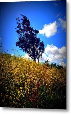 The Mustard Hillside Metal Print by Lisa Holland-Gillem