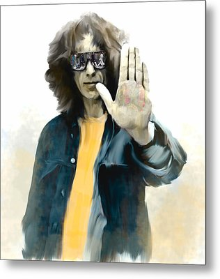 The Mystical One  George Harrison Metal Print by Iconic Images Art Gallery David Pucciarelli