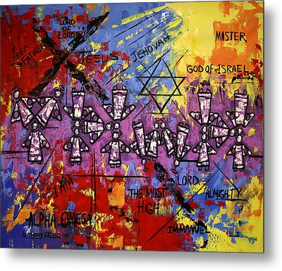 The Name Of God Metal Print by Anthony Falbo