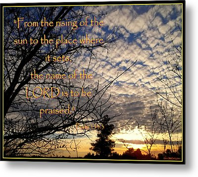 The Name Of The Lord Metal Print by Glenn McCarthy Art and Photography