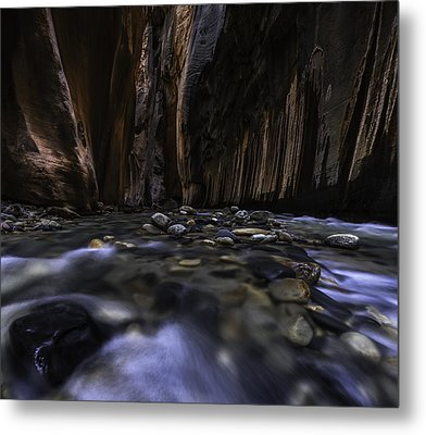 The Narrows At Zion National Park - 2 Metal Print by Larry Marshall