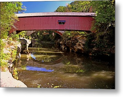 The Narrows Covered Bridge 1 Metal Print by Marty Koch