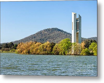 The National Carillon And Lake Burley Griffin - Canberra - Australia Metal Print by David Hill