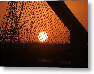 Metal Print featuring the photograph The Netted Sun by Leticia Latocki