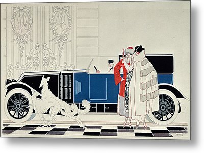 The New 6 Cylinder Renault, C 1920 Metal Print by Rene Vincent