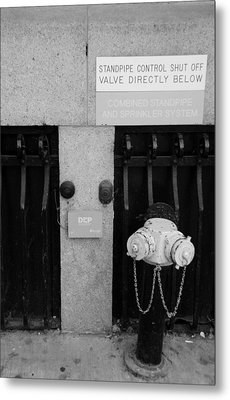 The New Normal In Black And White Metal Print by Rob Hans