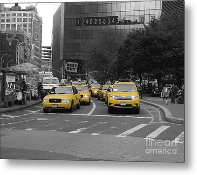 The New York Cabs Metal Print