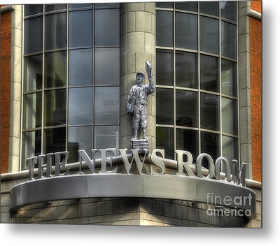 Metal Print featuring the photograph The News Room by Trey Foerster