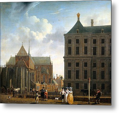 The Nieuwe Kerk And The Rear Of The Town Hall In Amsterdam  Metal Print