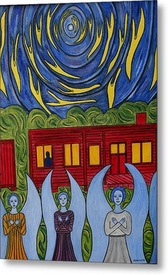 The Night Angels Came Metal Print by Sandra Marie Adams