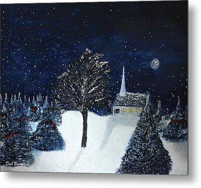 The Night Before Christmas Metal Print by Dick Bourgault