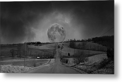 The Night Begins Metal Print