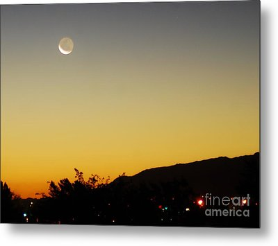 Metal Print featuring the photograph The Night Moves On by Angela J Wright