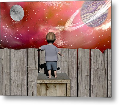 The Night Sky Metal Print