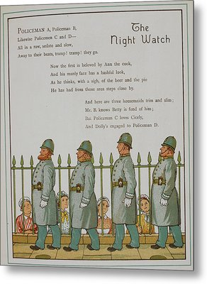 The Night Watch. Four Policeman Metal Print by British Library