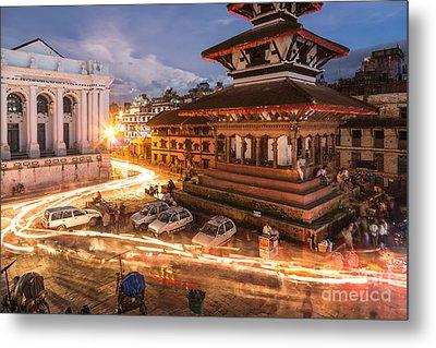 The Nights Of Stunning Kathmandu Metal Print