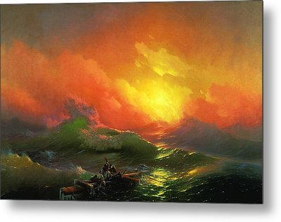 The Ninth Wave 1850 By Aivazovsky Metal Print by Movie Poster Prints