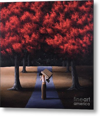 Metal Print featuring the painting The Noble Art Of Thinking Outside Of The Box by Ric Nagualero