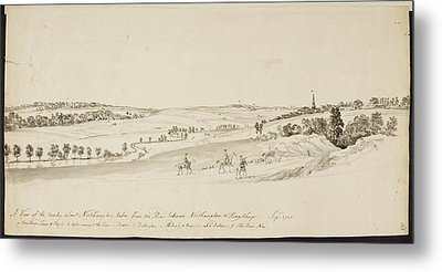 The Northamptonshire Landscape Metal Print by British Library