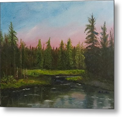 Metal Print featuring the painting The Northeast by Sharon Schultz