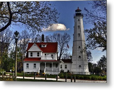 Metal Print featuring the photograph The Northpoint Lighthouse by Deborah Klubertanz