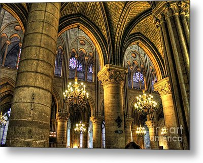 The Notre Dame Archs Metal Print by Ines Bolasini