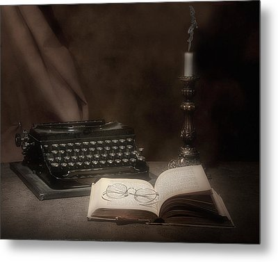 The Novelist Still Life Metal Print by Tom Mc Nemar