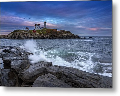 The Nubble In Color Metal Print by Rick Berk