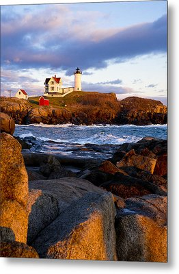 The Nubble Lighthouse Metal Print
