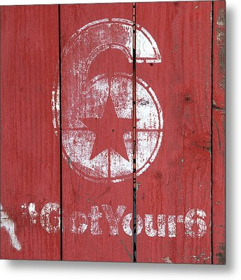 The Number 6 Metal Print by Art Block Collections