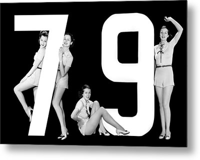 The Number 79 And Four Women Metal Print