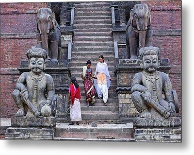 The Nyatapola Temple At Bhaktapur In Nepal Metal Print by Robert Preston